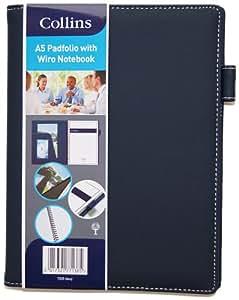 Collins - Carpeta tamaño A5 con cuaderno, color azul