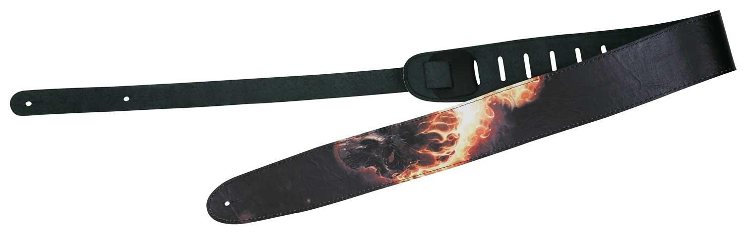 Peavey  Marvel Ghost Rider Leather Guitar Strap by Peavey