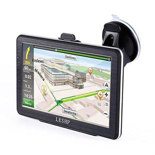LESHP 7 inch HD Car GPS Navigation Android 8GB Quad-core ...