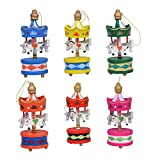 Merry Christmas Wood Carousel Horse Ornaments,Mini Beautiful Wooden Xmas Children Gift Toys,New Year Christmas Gifts Pendant