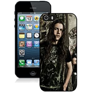 Beautiful Designed Cover Case With Black Tide Haircut Hair Graffiti House For iPhone 5S Phone Case