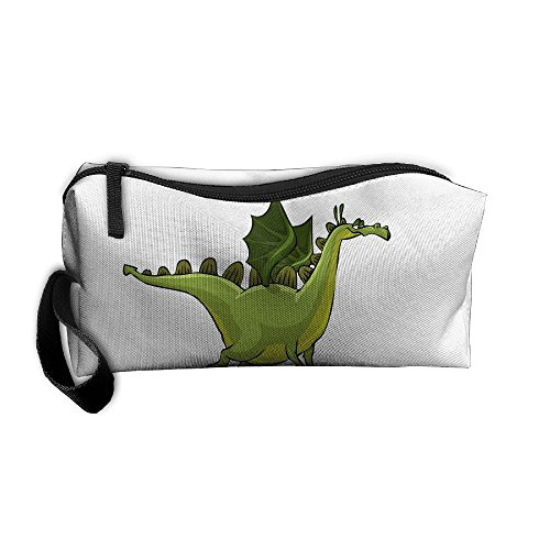 Portable Make-up Receive Bag Dinosaur Travel&home Storage Bag Zipper Organization Space Saver Canvas Buggy Pouch -