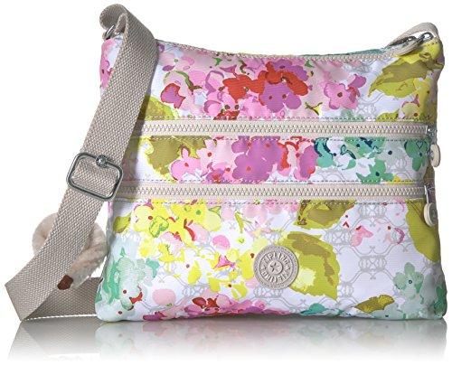Kipling Women's Alvar Printed Crossbody Bag, LUSCFLRWHT