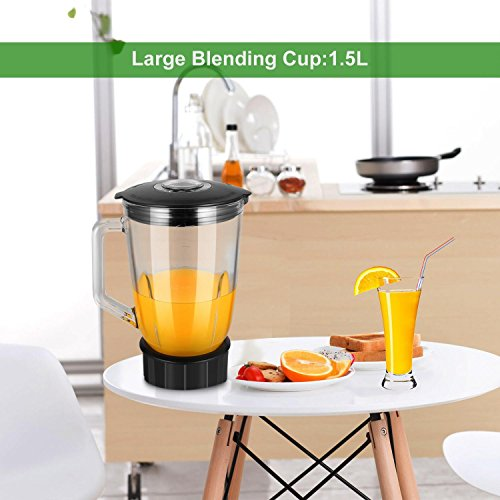 Utheing Smoothie Blender, 800W 5 Modes 50oz Stainless Steel, Fruit Mixer with Smart Timer Setting for Shakes and Smoothies Silver by Utheing (Image #6)