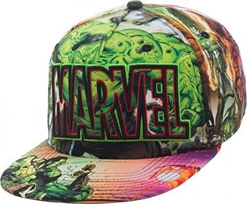 Incredible Hulk Snapback Hat Marvel Comics Sublimated (Snapback Hulk)