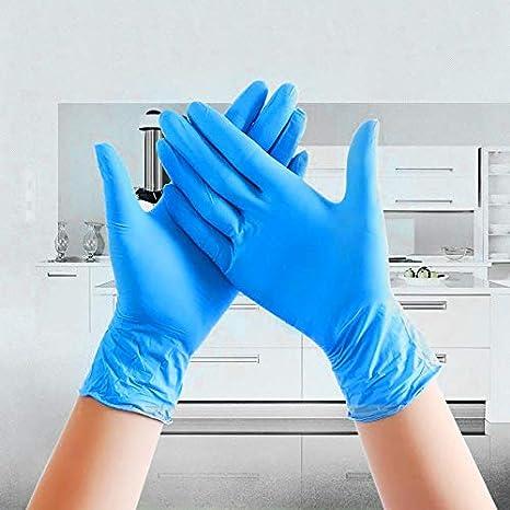 guantes de alimentos universales izquierdo y derecho 20 unidades extra-large azul Guantes desechables de l/átex de nitrilo para uso dom/éstico de LAIYYI guantes de uso comercial m/édico