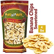 We Got Nuts Sweetened Banana Chips (4 Pounds) Sealed For Freshness - We Got Nuts