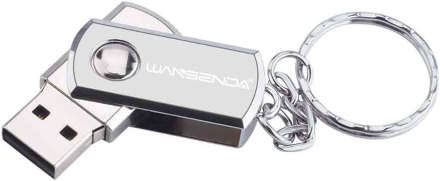 WZHESS Portable Waterproof 128GB Metal USB Flash Drive Data Picture Storage Pen Thumb Drive USB 2.0 Memory Stick Rotation Design U Disk