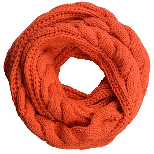 neosan-womens-thick-ribbed-knit-winter-infinity-circle-loop-scarf-twist-orange
