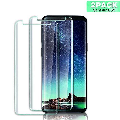 Aonsen Protector de Pantalla Galaxy S9, [2 Pack] 9H Dureza, 3D Cristal Vidrio Templado Protector de Pantalla, Anti-Rasguños,Anti-Arañazos,Sin Burbujas, ...