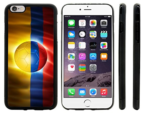Rikki KnightTM Brazil World Cup 2014 Colombia Team Football Soccer Flag Design iPhone 6 Plus Case Cover (Black Rubber with front bumper protection) for Apple iPhone 6 Plus