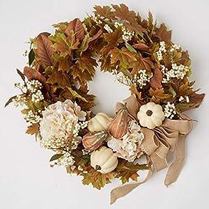 "BrylaneHome Napa Harvest Floral 24"" Wreath 4"