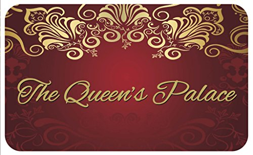 Shades of Color The Queen's Palace Floor Mat, Maroon & Gold (IFM102) ()
