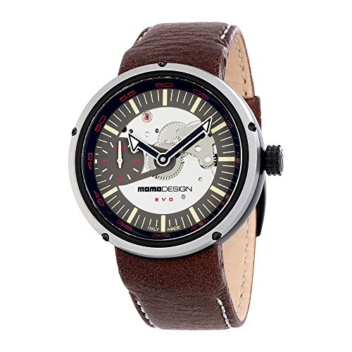 Momo Design Evo Meccanico Brown Leather Mens Watch 1010BS-42