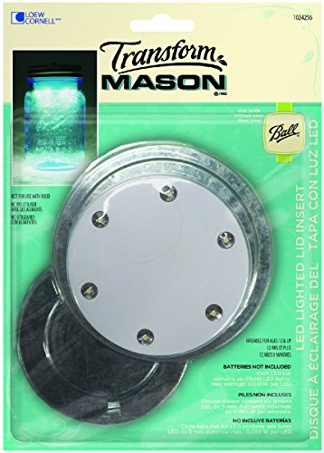 Loew Cornell TransformMason LED Lighted Lid Insert