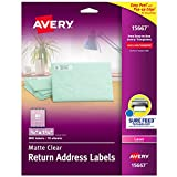 Avery Matte Frosted Clear Return Address Labels for
