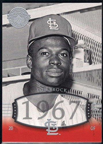 Lou Brock Baseball Card (Baseball MLB 2004 Upper Deck Legends Timeless Teams #20 Lou Brock Cardinals)