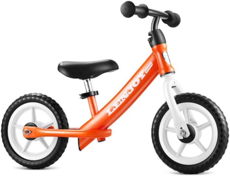 ZLXLX Entrenamiento Balance Car 12 pulgadas Niños 'S Carbon Steel Sin Pedal Walking Outdoor Balance Bicicleta 3-6 años Niños, Naranja,naranja