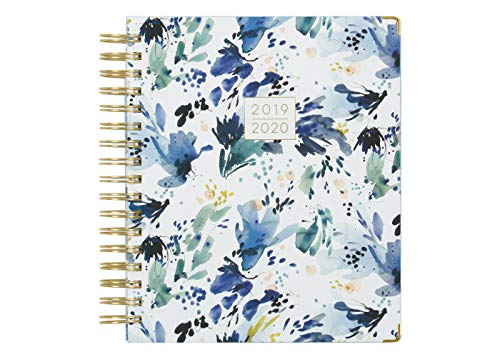 Kelly Ventura for Blue Sky 2019-2020 Academic Year Daily & Monthly Planner, Hardcover, Gold-Tone Twin-Wire Binding, 7