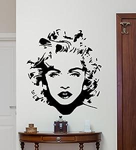 Delightful Madonna Wall Decal Pop Star Madonna Louise Ciccone Singer Vinyl Sticker  Music Wall Art Design Music Lover Teen Room Music Studio Wall Decor Kids  Room ...