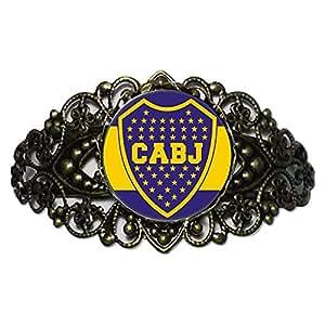 Chicforest Bronze Retro Style Sports Cabj Flower Cuff Bracelet Bracelets