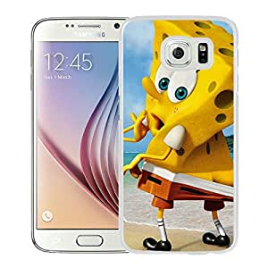 Fashionable And Unique Designed Case With Funny Spongebob Squarepants White For Samsung Galaxy S6 Phone Case