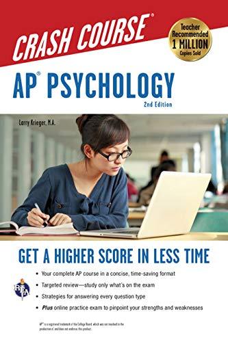 AP® Psychology Crash Course, 2nd Ed., Book + Online (Advanced Placement (AP) Crash Course) ()
