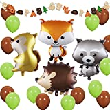 Woodland Creatures - Forest Animal Party Decorations Woodland Creatures Balloons and Garland for Baby Shower, Birthday Decorations
