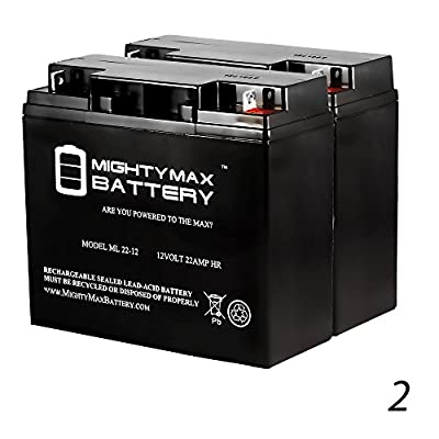 12V 22AH Battery Replacement for XPower 1500 Jump Starter - 2 Pack - Mighty Max Battery brand product