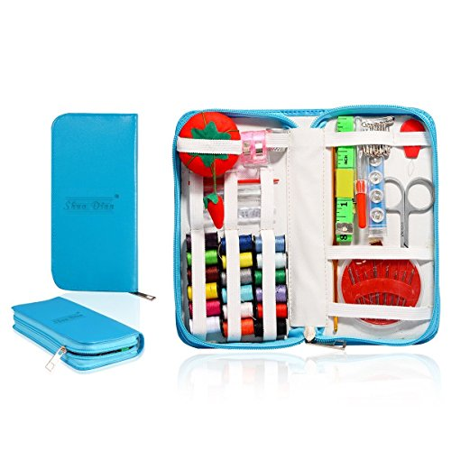 Mini Beginner Sewing Kit Case Set Supplies for Adults Kids Home Travel Campers Emergency Premium Gift