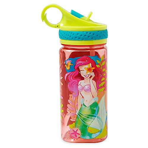 Disney Ariel Water Bottle with Built-In Straw