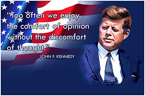 JFK Classroom Quote Poster Decorations Growth Mindset Posters for School Kids John Kennedy Quotes Wall Art Teaching Inspirational Motivational Mindsets Educational Learning Teacher in Classrooms (Fantastic Kids Stickers)