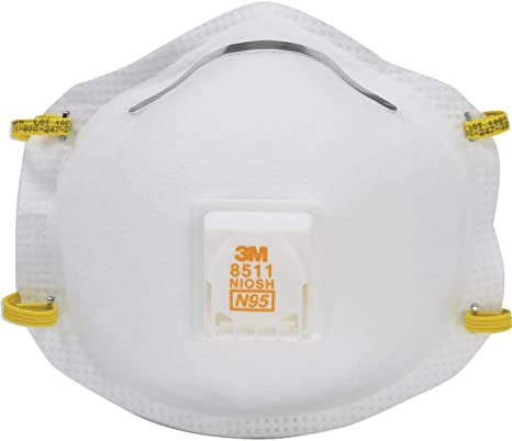 Flow Valve 3m 1 Respirator With Pack 8511ha1-c-ps Fiberglass Sanding Safety Cool And