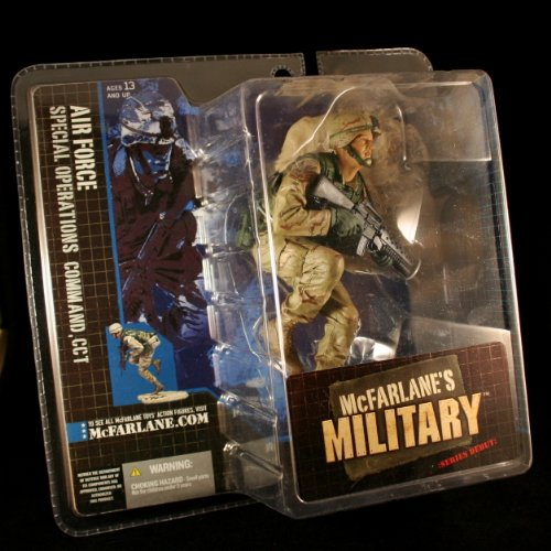 AIR FORCE SPECIAL OPERATIONS COMMAND, CCT * CAUCASIAN VARIATION * McFarlane's Military Series 1 Action Figure & Display Base Air Force Operation