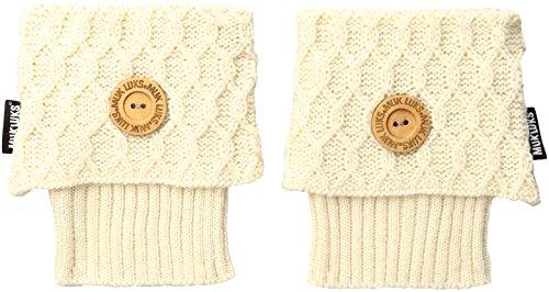 Muk Luks Women's 1-Pair Texture Boot Toppers, Vanilla, OSFM by MUK LUKS