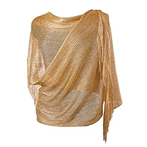 MissShorthair Women's Sparkle Shawls and Wraps for Party Dresses