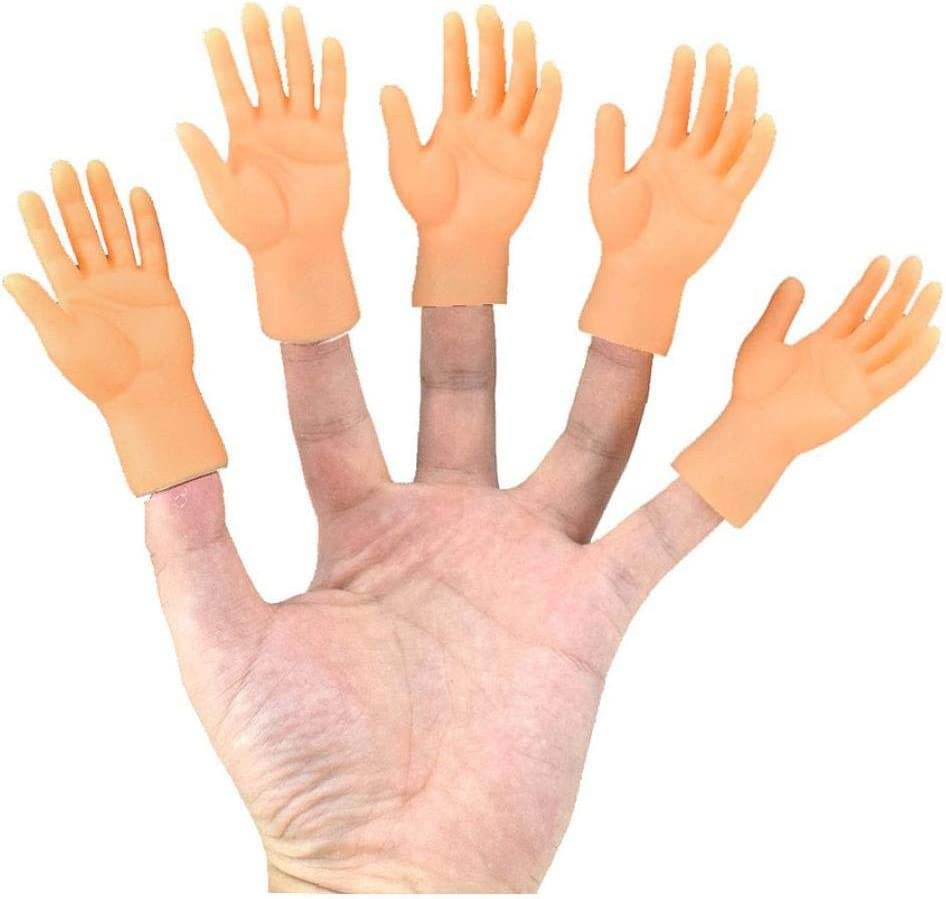 Marioneta Del Dedo 10 Piezas Peque/ñas Manos Mini Manos Del Dedo Con Izquierda Manos Y Derecha Para Trucos Divertidos Game Party