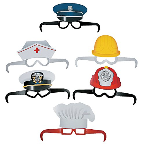 Paper Community Helper Party Glasses - 12 pieces