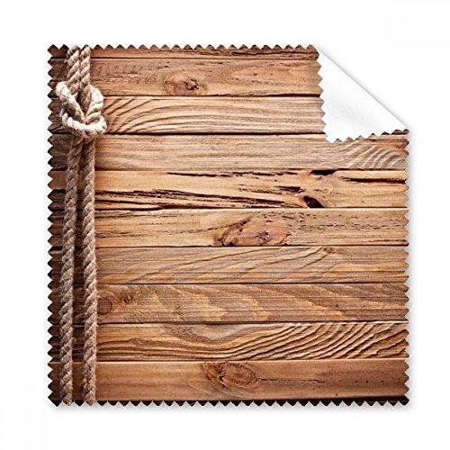 Mahogany Wood Retro Irregular Rope Stripes Illustration Pattern Glasses Cloth Cleaning Cloth Gift Phone Screen Cleaner 5pcs