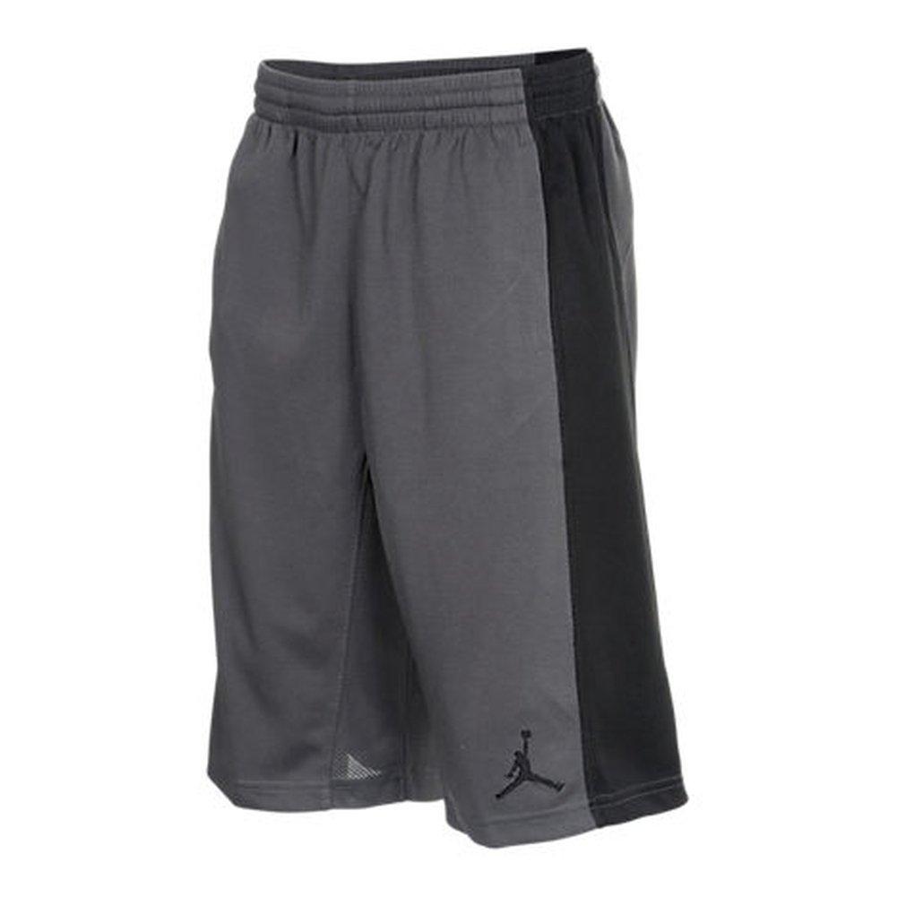 08434cb83b57 Amazon.com   Nike Dri Fit Air Jordan Big Boys Jumpman Basketball Shorts Dark  Grey Black (Small)   Sports   Outdoors