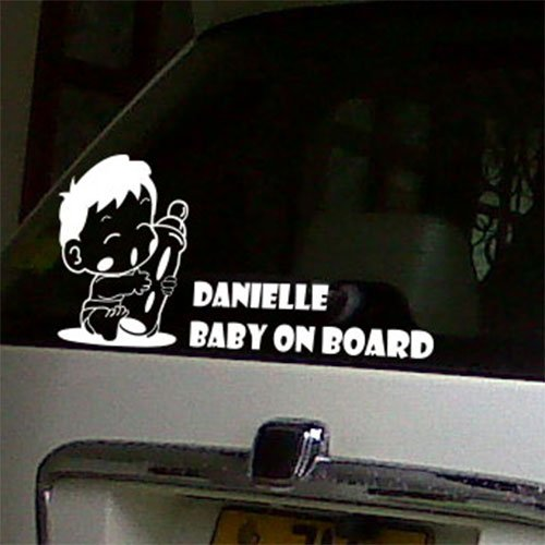 Personalized baby on board car window stickers signs decals nursery stickers wall quote stickers amazon co uk kitchen home