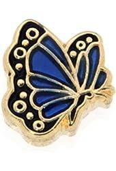 September Butterfly Enamel Birthmonth Charm for Floating Lockets