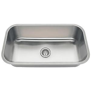 3218C 18-Gauge Undermount Single Bowl Stainless Steel Kitchen Sink