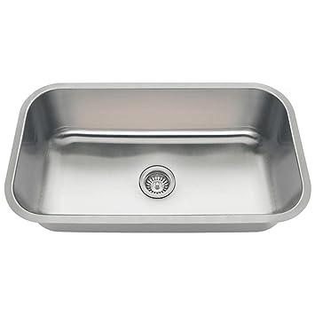 3218c 18 gauge undermount single bowl stainless steel kitchen sink 3218c 18 gauge undermount single bowl stainless steel kitchen sink      rh   amazon com
