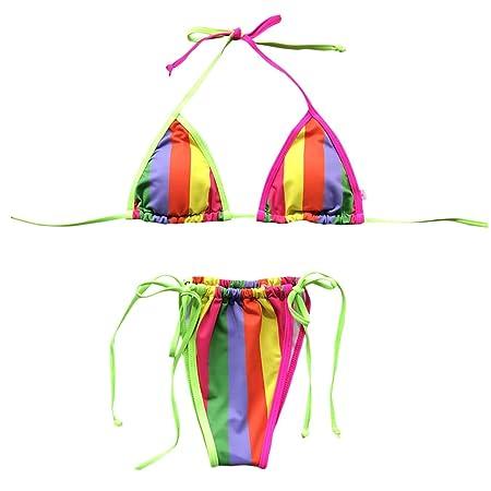Lyguy Ropa de Playa, Bikini para Mujer, Traje de baño Atractivo ...