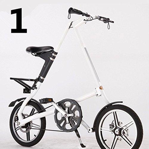 16インチ 折りたたみ自転車 折畳自転車 おりたたみ自転車 MTB おりたたみ自転車W960 B00QA170W4 ホワイト ホワイト