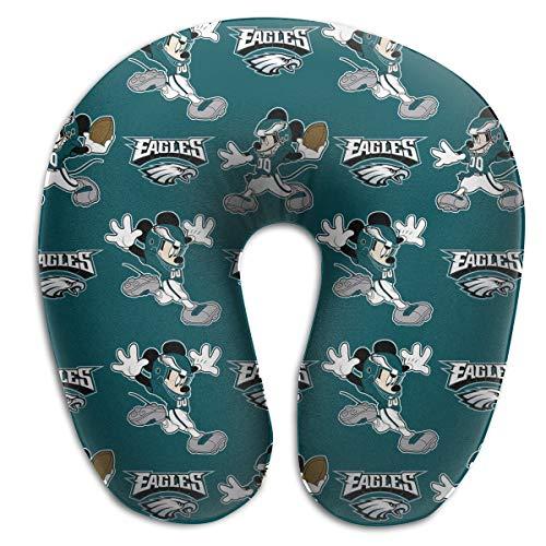 Jerrymoaus Philadelphia Eagles Unisex U Neck Polyester Travel Pillow Travel Memory Foam Pillow
