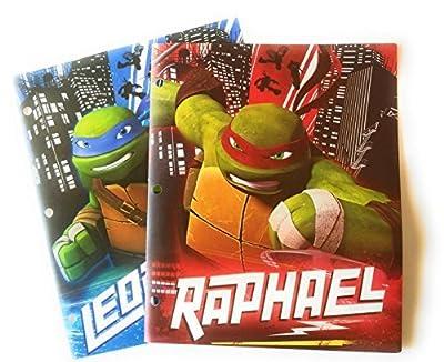 Teenage Mutant Ninja Turtles Durable Poly 2-Pocket 3-Hole Portfolio Folders - Set of 2