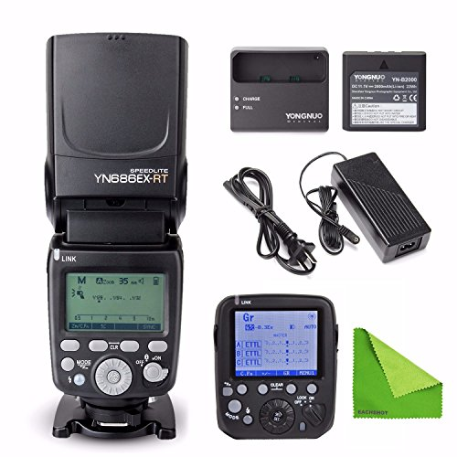 YONGNUO YN686EX-RT Lithium Battery Speedlite 1/8000s TTL/M/MULTI 2.4G Wireless Falsh w/ YN-E3-RT For Canon by Yongnuo