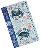 4-Piece-Blue-Crab-Crabfest-Kitchen-Set-2-Terry-Towels-Oven-Mitt-Potholder